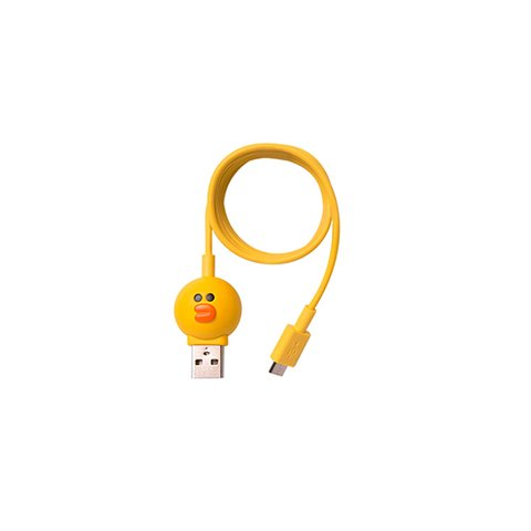 Cable micro USB de 5 pines para conectar smartphone  Line Friends – Silly