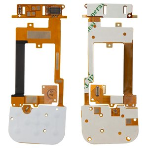 Flat Cable for Nokia 2220s Cell Phone, (Copy, for mainboard, with upper keypad module, with components)