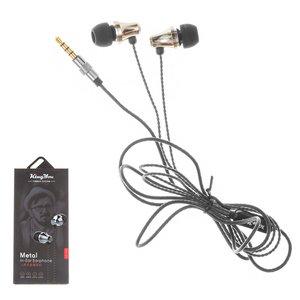 Headphone KingYou KH-21, (vacuum, black, TRRS 3.5 mm)