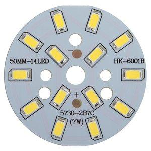 Плата со светодиодами 7 Вт (холодный белый, 840 лм, 50 мм)