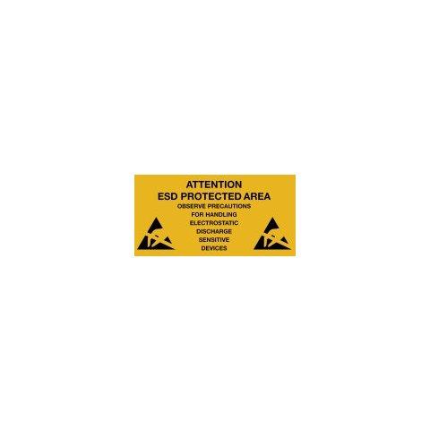 Warmbier 2850.300500.E Предупреждающие наклейки об антистатической безопасности (10 шт.)