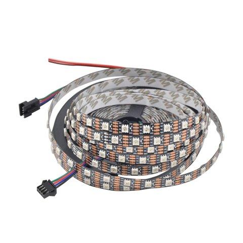 Світлодіодна стрічка RGB SMD5050, WS2813 (чорна, з управлінням, IP20, 5 В, 60 діодів/м, 5 м)